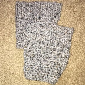 Accessories - Grey hand crocheted boot cuffs